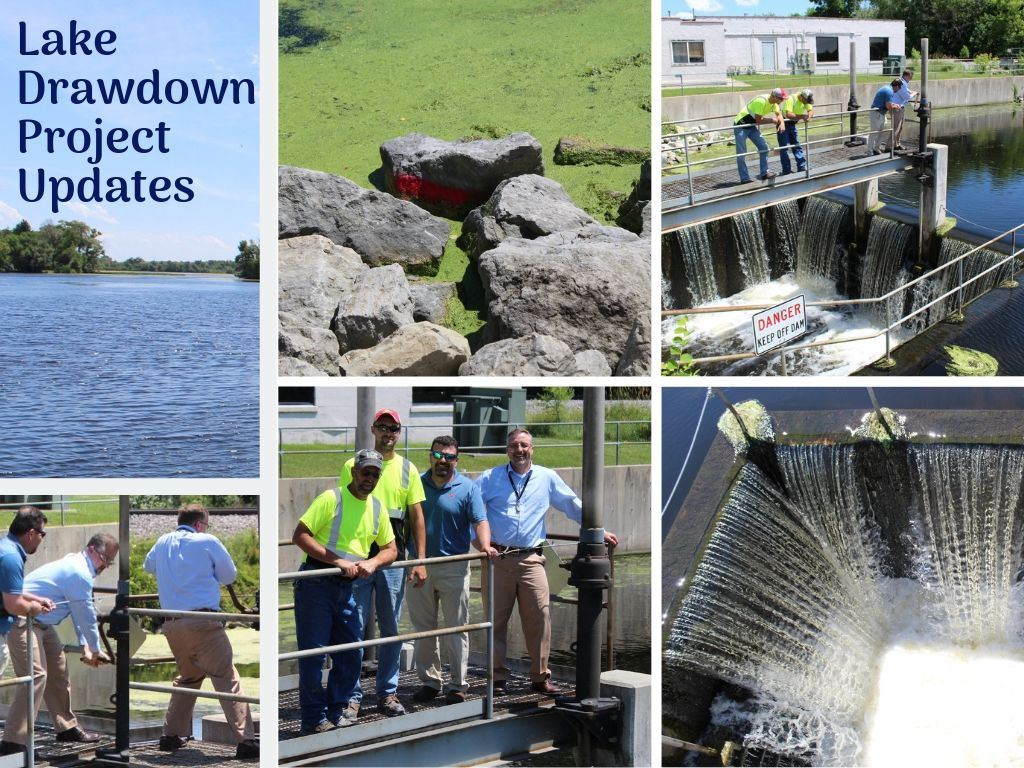 Lake Drawdown Open Dam 7-10-19