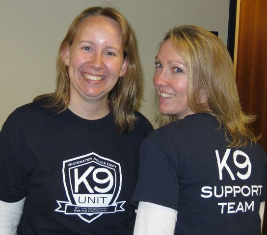 Women Wearing K9 Unit Shirts