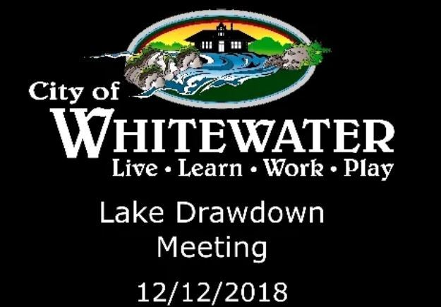 Lake drawdown 12-12-18