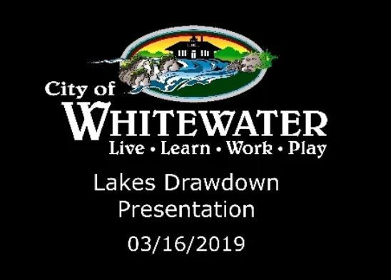 Lake drawdown 03-16-19