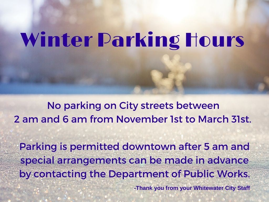 Winter Parking 2a-6a 2019