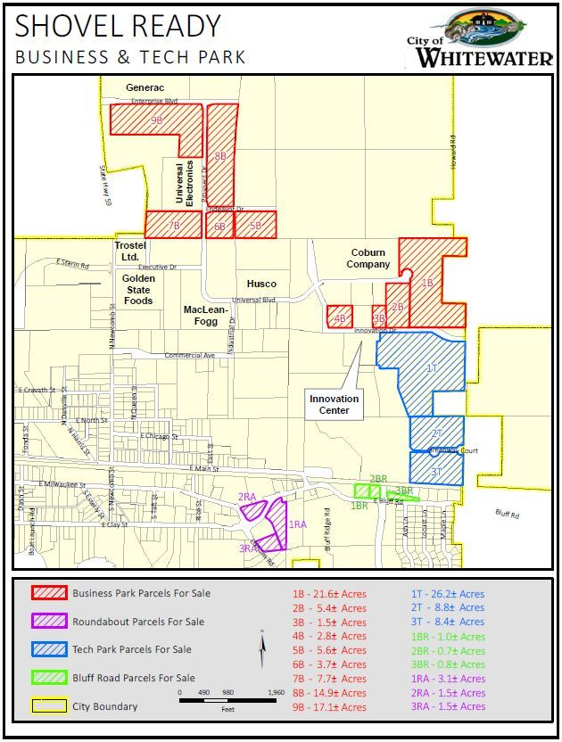 Shovel Ready Business and Tech Park Map