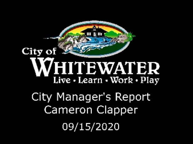 City Manager's Report 09.15.20
