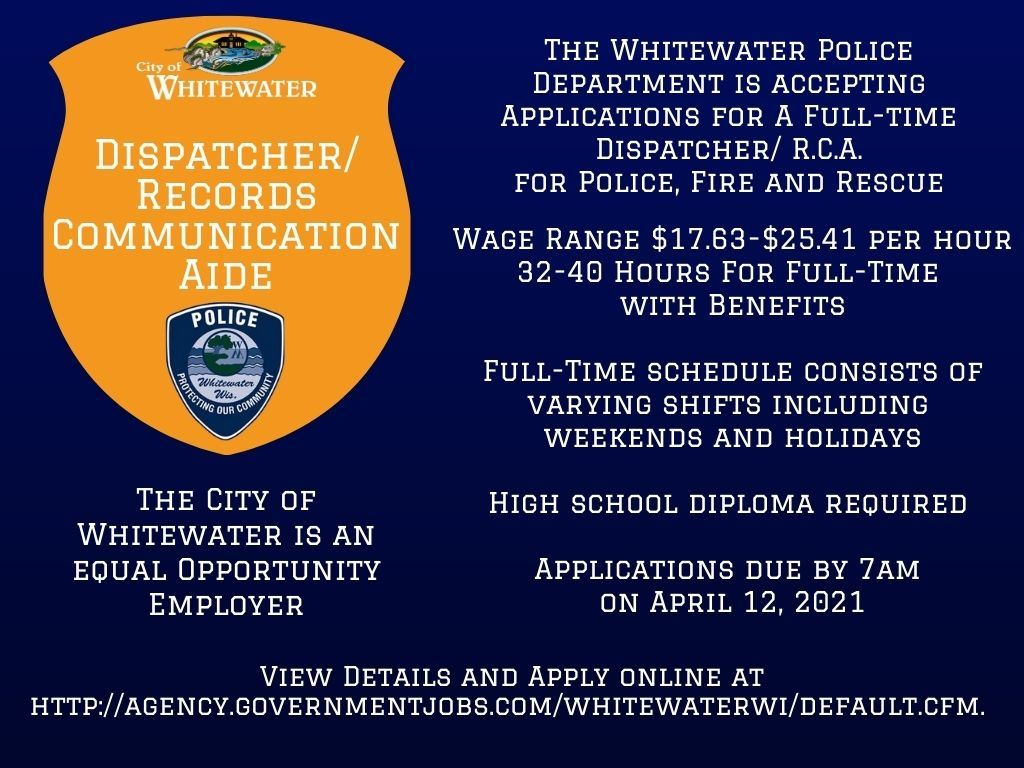 Dispatcher RCA 4-12-21