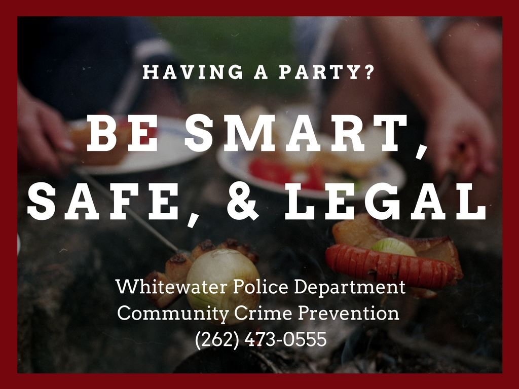 "Image with the text ""Having a Party? Be smart, safe, and legal."""