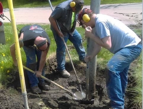 Working with Streets Department Employees