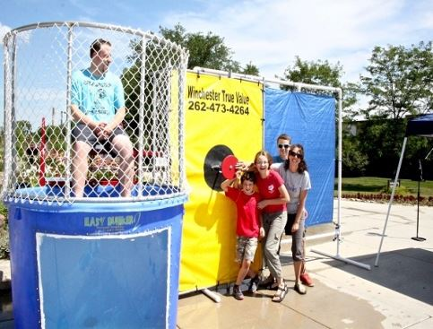 Volunteering in a dunk tank